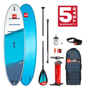 Red Paddle Co Ride 10'8 with carbon nylon paddle