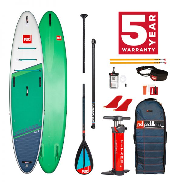 Red Paddle Co 12'6 Voyager with carbon nylon paddle