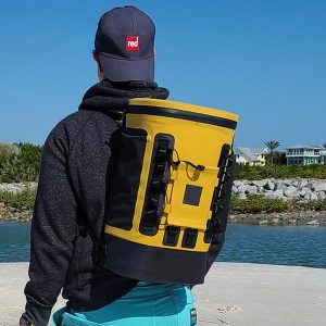 Mustard insulated cooler backpack
