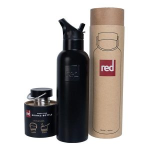 Red Original Black Insulated Water bottle